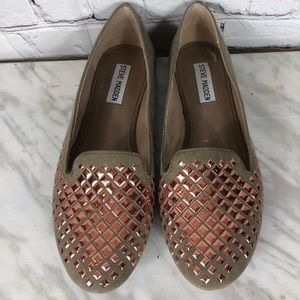 Steve Madden Taupe Rose Gold Flats Size 9